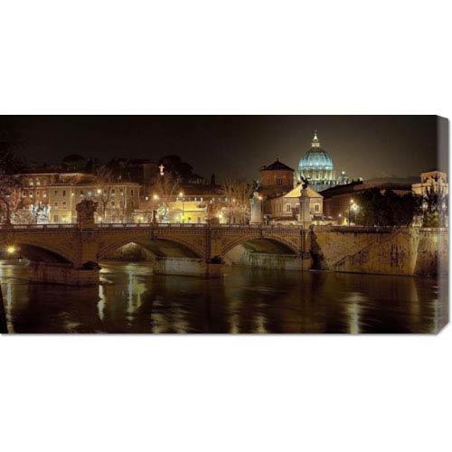 Global Gallery Rome at Night by Vadim Ratsenskiy: 36 x 18 Canvas Giclees, Wall Art