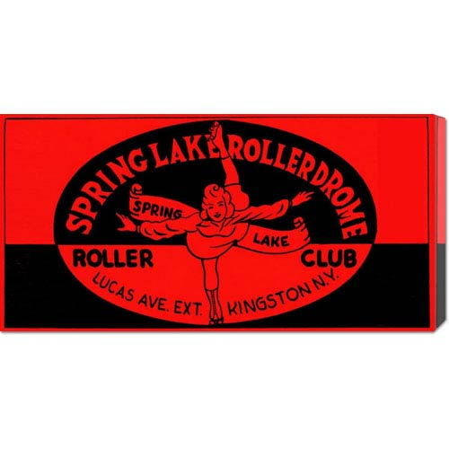 Global Gallery Spring Lake Rollerdome Roller Club: 11 x 22 Canvas Giclees, Wall Art