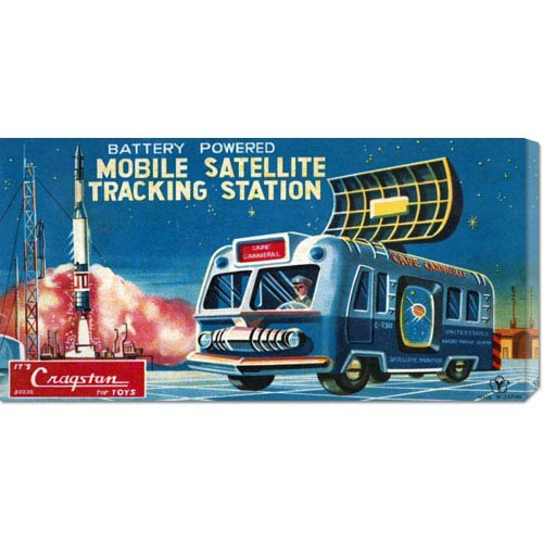 Global Gallery Mobile Satellite Tracking Station: 11 x 22 Canvas Giclees, Wall Art