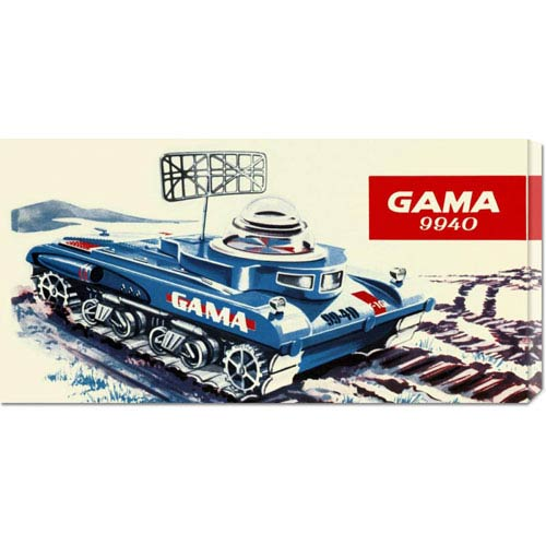Global Gallery Gama 9940 Space Tank: 11 x 22 Canvas Giclees, Wall Art
