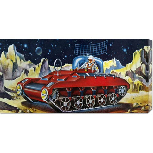 Global Gallery Space Exploration Tank: 11 x 22 Canvas Giclees, Wall Art