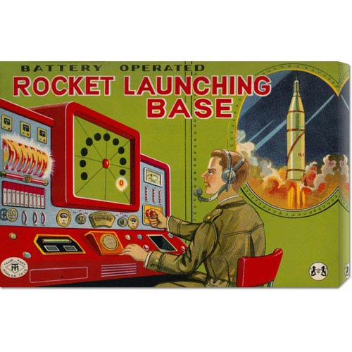 Global Gallery Rocket Launching Base: 14.7 x 22 Canvas Giclees, Wall Art