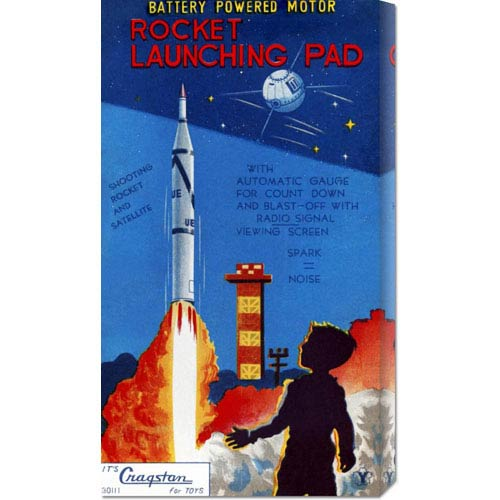 Global Gallery Rocket Launching Pad: 22 x 12.32 Canvas Giclees, Wall Art
