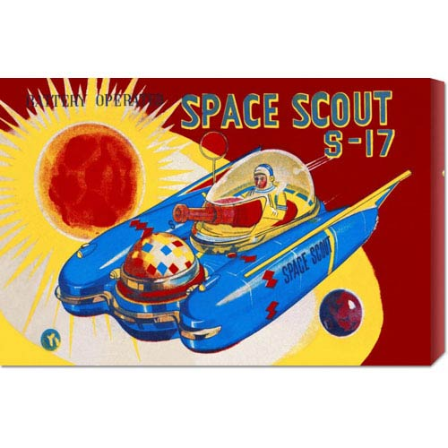 Global Gallery Space Scout S-17: 14.7 x 22 Canvas Giclees, Wall Art