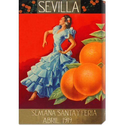 Global Gallery Sevilla - Fair Week: 22 x 14.74 Canvas Giclees, Wall Art