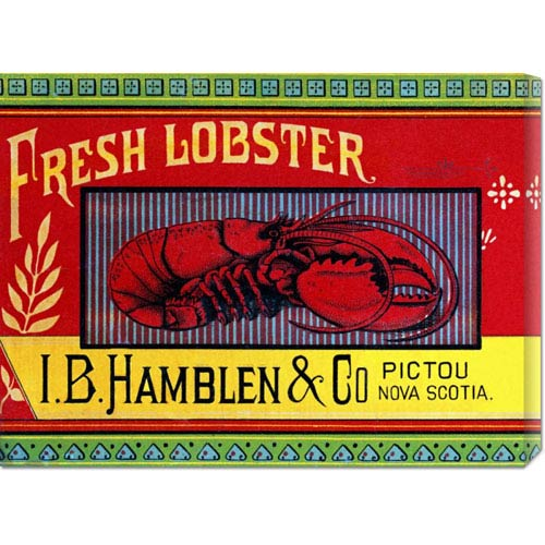 Global Gallery Fresh Lobster: 16.5 x 22 Canvas Giclees, Wall Art