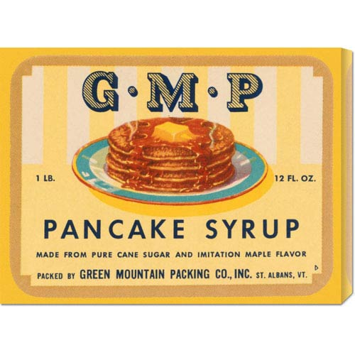 Global Gallery G.M.P. Pancake Syrup: 16.5 x 22 Canvas Giclees, Wall Art