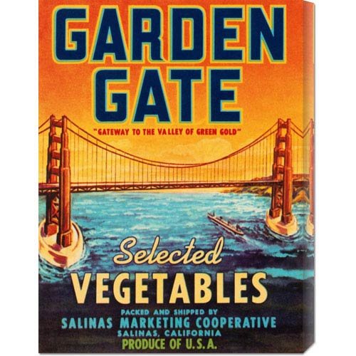 Global Gallery Garden Gate Selected Vegetables: 22 x 16.5 Canvas Giclees, Wall Art