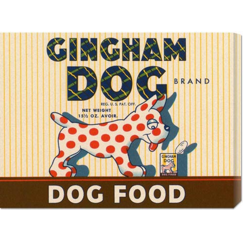 Global Gallery Gingham Dog: 16.5 x 22 Canvas Giclees, Wall Art