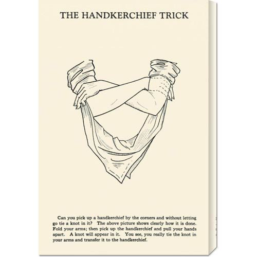 Global Gallery The Hankerchief Trick: 22 x 14.74 Canvas Giclees, Wall Art