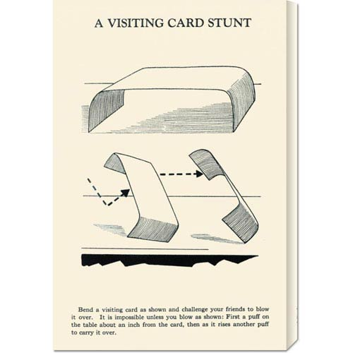 Global Gallery A Visiting Card Stunt: 22 x 14.74 Canvas Giclees, Wall Art
