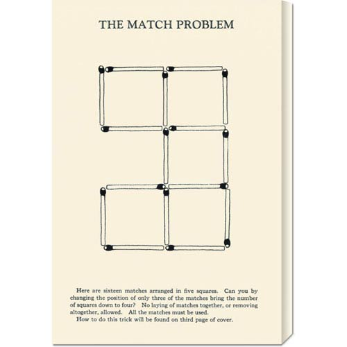 Global Gallery The Match Problem: 22 x 14.74 Canvas Giclees, Wall Art