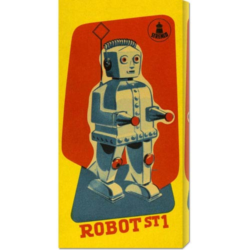 Global Gallery Robot ST1: 22 x 11 Canvas Giclees, Wall Art