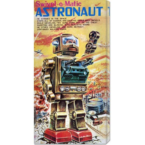 Global Gallery Swivel-o-Matic Astronaut: 22 x 11 Canvas Giclees, Wall Art