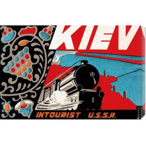 Global Gallery Kiev - Intourist U.S.S.R.: 30 x 20.1 Canvas Giclees, Wall Art