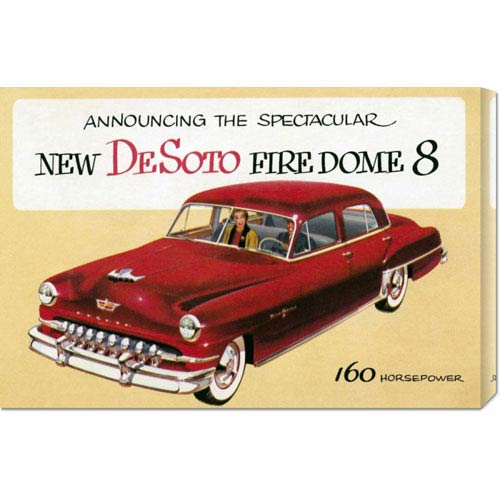 Global Gallery New DeSoto Firedome Eight: 30 x 20.1 Canvas Giclees, Wall Art