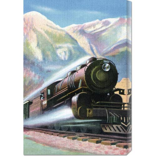 Global Gallery Steaming Full Speed Ahead: 20.1 x 30 Canvas Giclees, Wall Art
