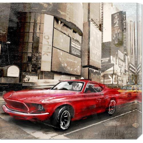 Global Gallery Red Rocket by Ivan Baldo: 24 x 24 Canvas Giclees, Wall Art