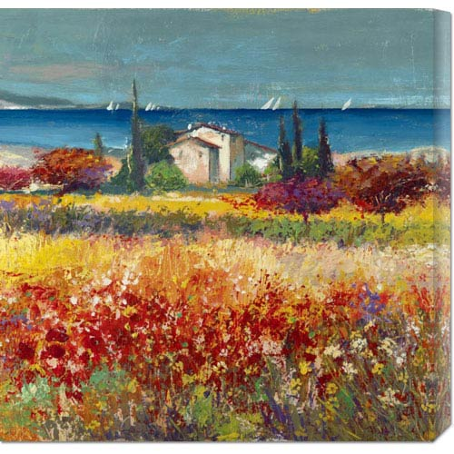 Global Gallery Sogno Mediterraneo by Luigi Florio: 24 x 24 Canvas Giclees, Wall Art