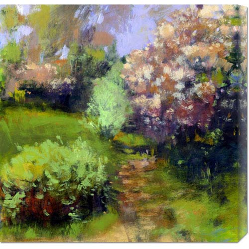 Global Gallery Spring Field by Lou Wall: 24 x 24 Canvas Giclees, Wall Art