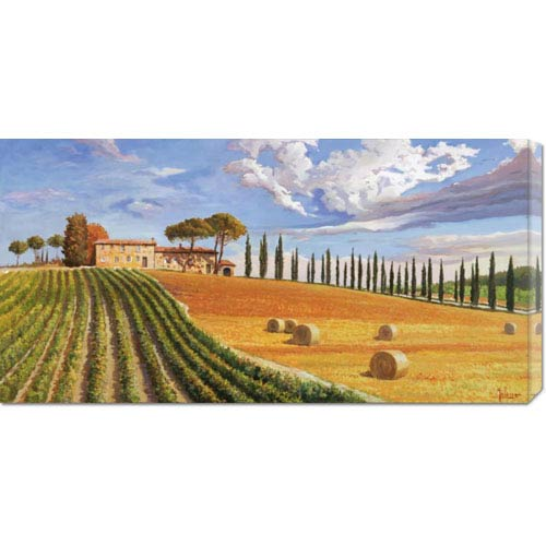 Global Gallery Colline Toscane by Adriano Galasso: 36 x 18 Canvas Giclees, Wall Art