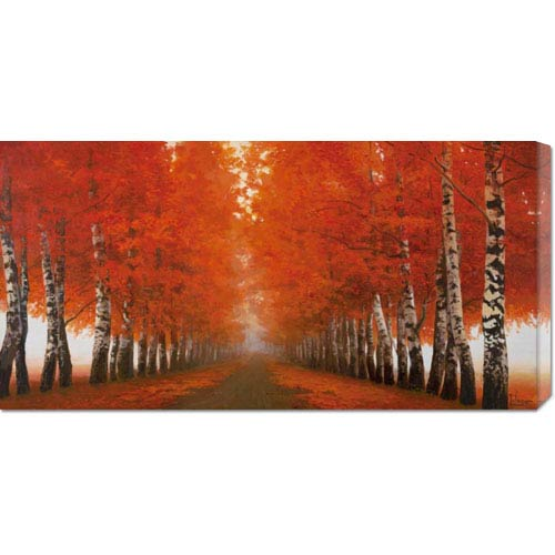 Global Gallery Viale di Betulle by Adriano Galasso: 36 x 18 Canvas Giclees, Wall Art