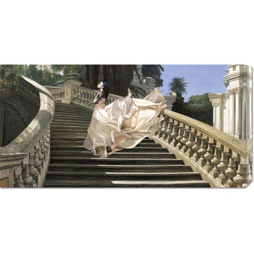 Global Gallery Scala Classica by Pierre Benson: 36 x 18 Canvas Giclees, Wall Art