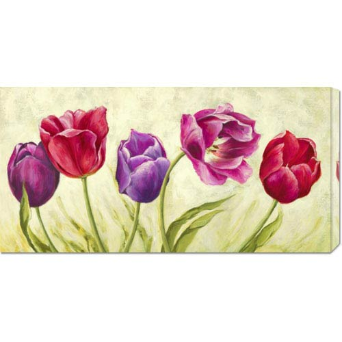 Global Gallery Tulipani Danzanti by Silvia Mei: 36 x 18 Canvas Giclees, Wall Art