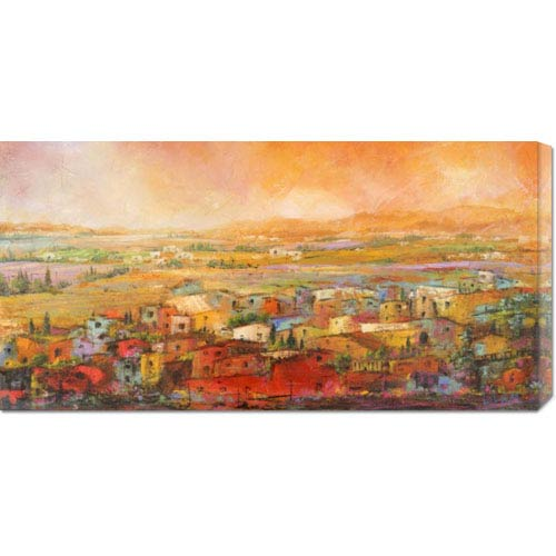 Global Gallery Villaggio Delle Colline by Tebo Marzari: 36 x 18 Canvas Giclees, Wall Art
