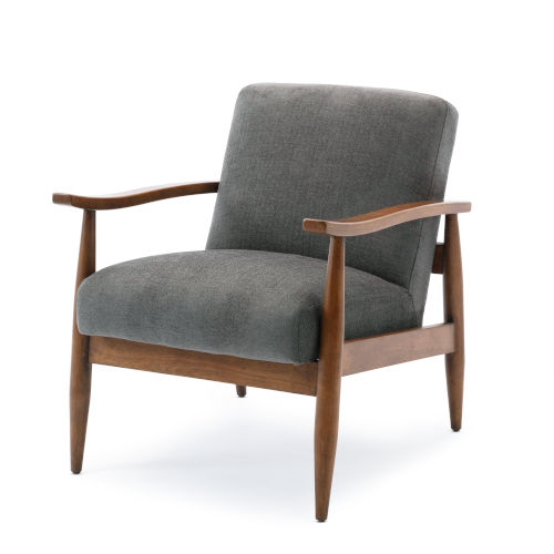 Asher Charcoal Wooden Base Accent Chair
