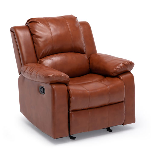 Clifton Caramel Leather Gel Recliner