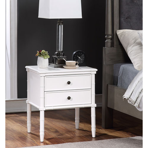 Ellison White Two Drawer Nightstand