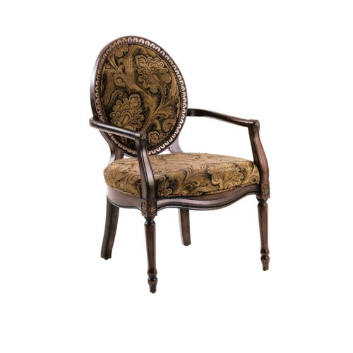 Elegant Victorian Chair Carvings Accented with Gold Highlights