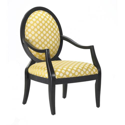 Comfort Pointe Sleek Transitional Chair with Fluted Carved Details