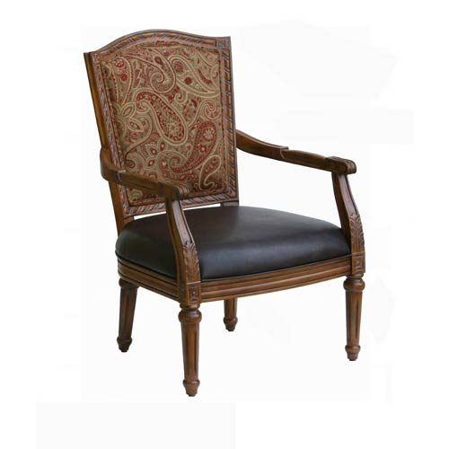 Comfort Pointe Masculine Carved High Back Chair