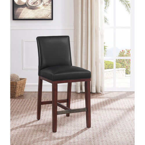 bb644578538 Comfort Pointe Simone Charcoal Leather Counter Stool 3207 025ch ...