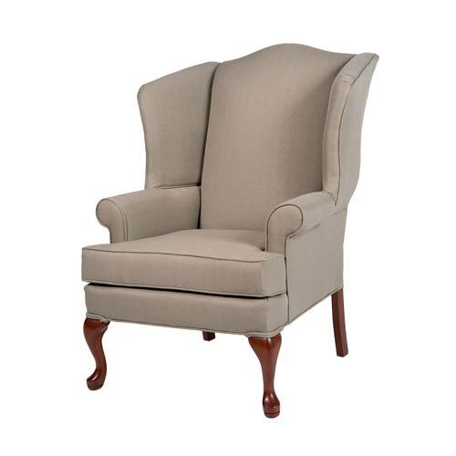 Erin Beige Wing Back Chair