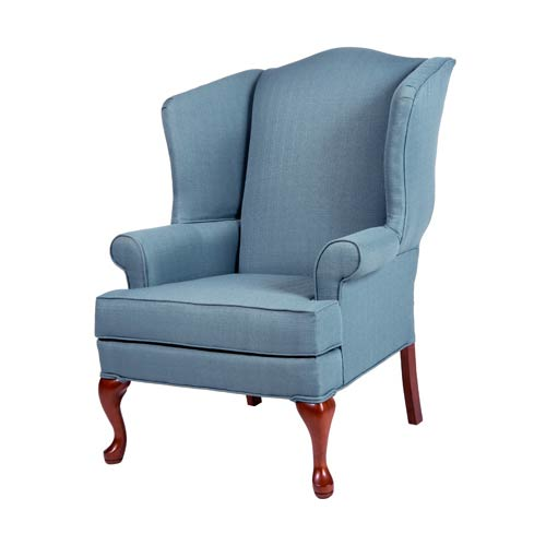Erin Blue Wing Back Chair