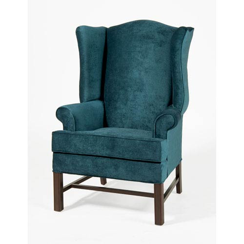 Chippendale Wing Chair- Elizabeth Ocean