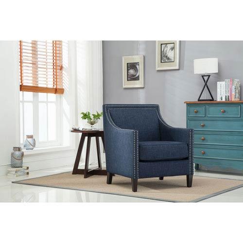 Taslo Navy Blue Accent Chair