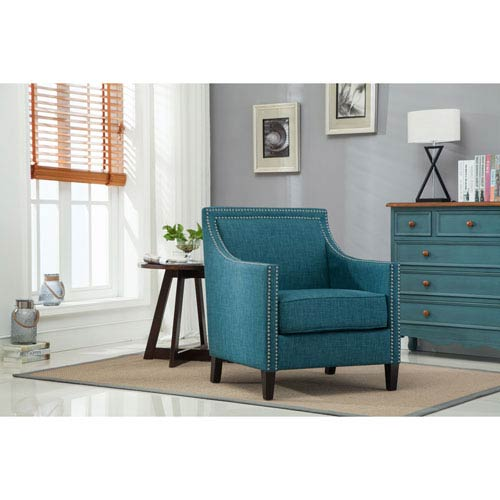 Comfort Pointe Taslo Teal Accent Chair