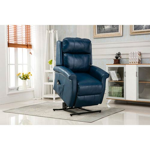 Comfort Pointe Lehman Navy Blue Traditional Lift Chair