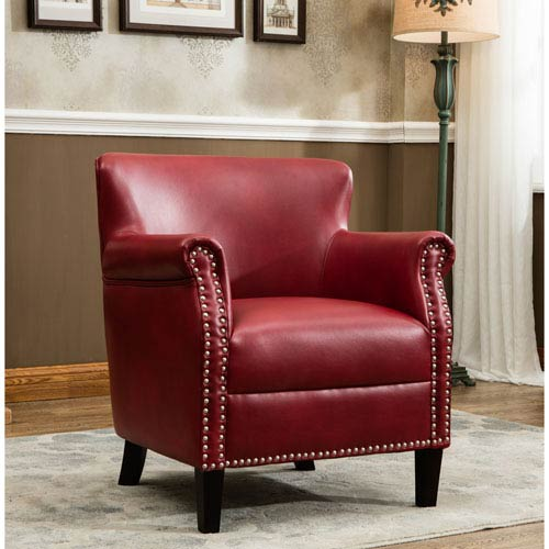 Holly Red Club Chair