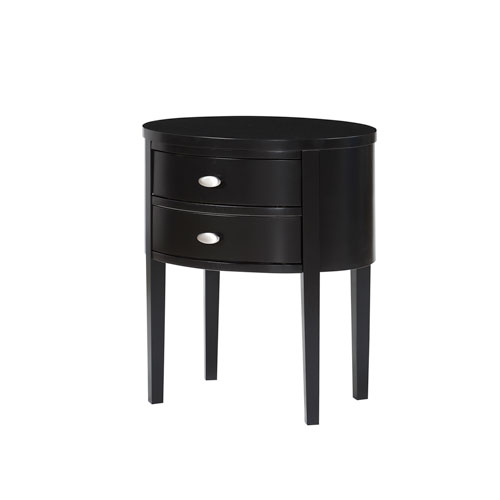 Comfort Pointe Verena Black Nightstand