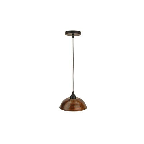Premier Copper Products Hand Hammered Copper 8.5-Inch Dome Pendant Light
