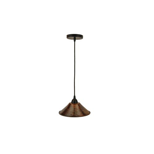 Hand Hammered Copper 9-Inch Cone Pendant Light