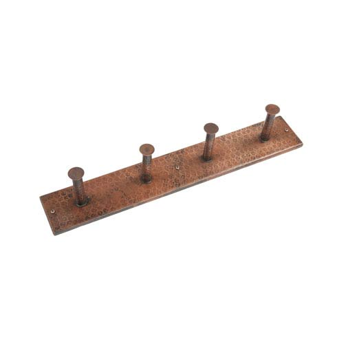 Hand Hammered Copper Quadruple Robe Hook