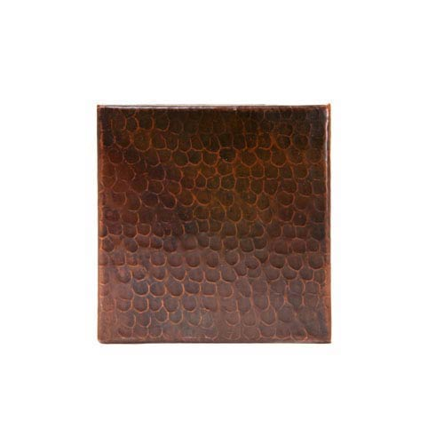6x6-Inch Hammered Copper Tile
