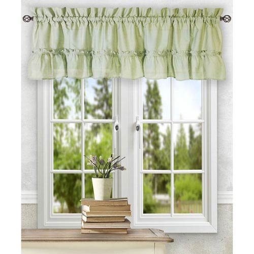 Stacey Sage 54 x 13-Inch Ruffled Filler Valance