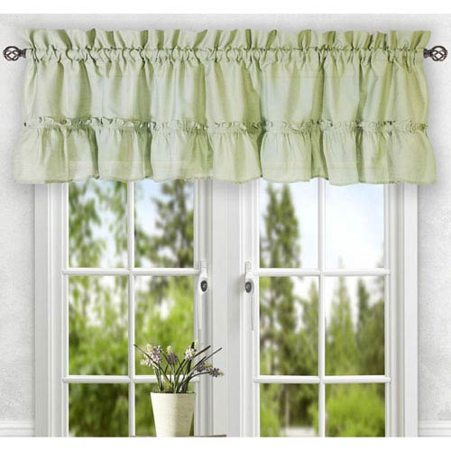 Ellis Curtain Stacey Sage 56 x 36-Inch Tailored Tier Pair Curtains